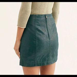 Free People Skirts - Free People Vegan Suede Mini Skirt